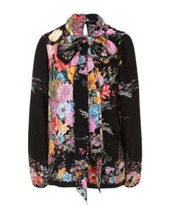 No. 21   Шелковая Блуза С Цветочным Принтом И Воротником Аскот