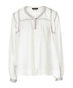 Isabel Marant | Шелковая Блуза Прямого Кроя С V-Образным Вырезом На Пуговице
