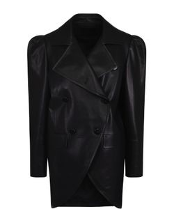 Drome | Двубортная Кожаная Куртка С Рукавом-Фонарик