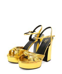 Gucci | Кожаные Босоножки Allie На Высоком Каблуке И Платформе