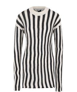 Helmut Lang | Удлиненный Пуловер В Полоску С Круглым Вырезом