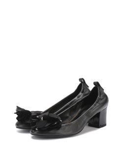 Lanvin | Кожаные Туфли С Цветочной Аппликацией