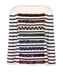 Marc Jacobs | Пуловер Прямого Кроя С Контрастной Декоративной Отделкой