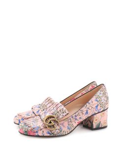 Gucci | Кожаные Туфли Marmont С Цветочным Принтом