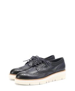 Santoni | Кожаные Ботинки С Брогированием