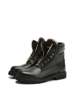 Balmain | Кожаные Ботинки С Металлическим Декором