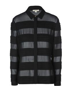 Burberry | Шелковая Полупрозрачная Блуза В Полоску