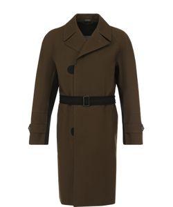 Lanvin | Однобортное Хлопковое Пальто С Поясом