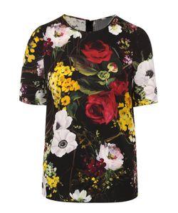 Dolce & Gabbana   Шелковый Топ С Цветочным Принтом