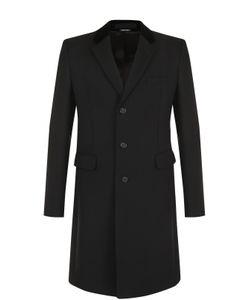 Alexander McQueen | Шерстяное Однобортное Пальто С Отложным Воротником