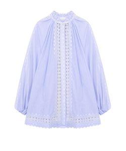 Zimmermann | Хлопковая Блуза Свободного Кроя С Кружевной Отделкой