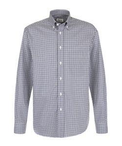 Brioni | Хлопковая Рубашка В Клетку С Воротником Button-Down