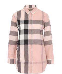 Burberry | Блуза В Клетку С Укороченным Рукавом