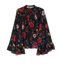 Mcq Alexander Mcqueen | Блуза Свободного Кроя С Оборками И Цветочным Принтом