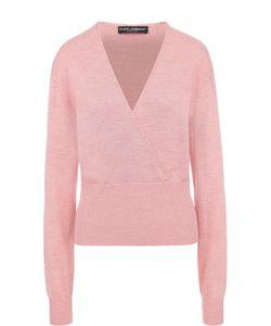 Dolce & Gabbana | Шелковый Пуловер С V-Образным Вырезом