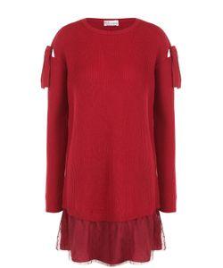 Red Valentino | Мини-Платье Фактурной Вязки С Бантами