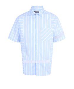 Lanvin | Хлопковая Рубашка Свободного Кроя С Короткими Рукавами