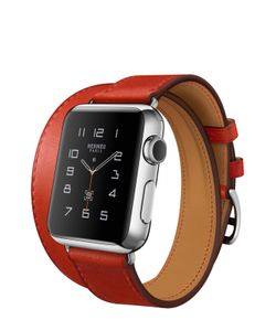 Apple | Watch 38mm Stainless Steel Case Hermes Double Tour Leather Band