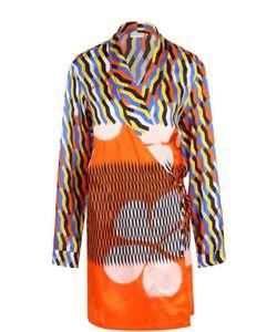 Dries Van Noten | Блуза Свободного Кроя С Принтом И Запахом