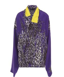 Haider Ackermann | Шелковая Блуза Свободного Кроя С Принтом
