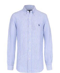 Polo Ralph Lauren   Льняная Рубашка В Клетку С Воротником Button Down