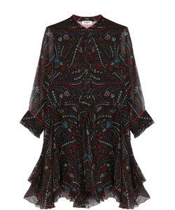 Zadig & Voltaire | Шелковое Платье-Рубашка С Принтом
