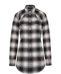 Ralph Lauren | Хлопковая Блуза Прямого Кроя В Клетку С Накладными Карманами