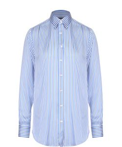 Polo Ralph Lauren | Шелковая Блуза Прямого Кроя В Контрастную Полоску