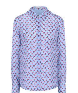 Altuzarra | Шелковая Блуза Прямого Кроя С Контрастным Принтом