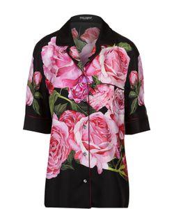 Dolce & Gabbana | Шелковая Блуза В Пижамном Стиле С Цветочным Принтом
