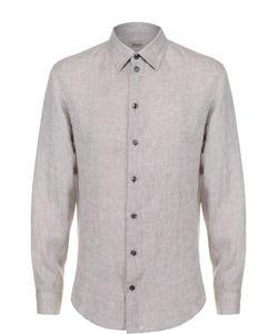 Armani Collezioni | Льняная Рубашка С Воротником Кент