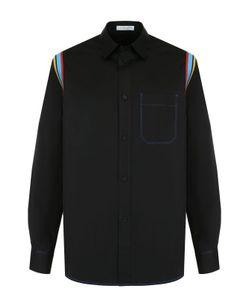 J.W. Anderson | Хлопковая Рубашка С Контрастной Отделкой