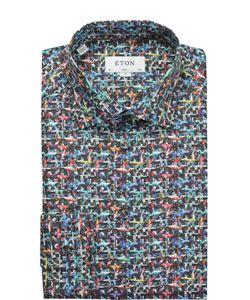 Eton | Хлопковая Рубашка С Принтом