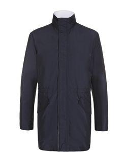 Kiton | Удлиненная Куртка На Молнии С Воротником-Стойкой