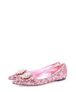 Dolce & Gabbana   Балетки С Вышивкой Пайетками И Кристаллами