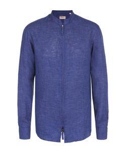Armani Collezioni | Льняная Рубашка На Молнии С Воротником-Стойкой