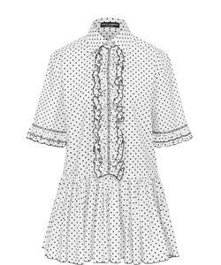 Dolce & Gabbana | Блуза В Горох С Оборками И Баской