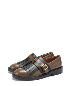 Marni | Кожаные Ботинки С Бахромой