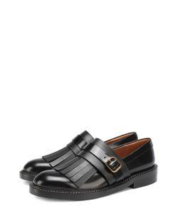 Marni   Кожаные Ботинки С Бахромой
