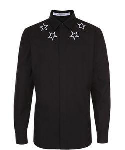 Givenchy | Хлопковая Рубашка С Контрастной Вышивкой В Виде Звезд