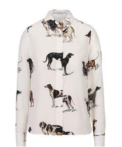 Stella Mccartney | Шелковая Блуза Прямого Кроя С Принтом В Виде Собак