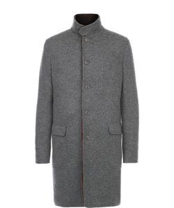 Loro Piana | Однобортное Кашемировое Пальто С Меховой Подкладкой