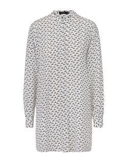 Joseph | Удлиненная Шелковая Блуза С Воротником-Стойкой