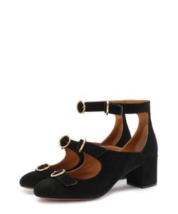Chloe | Замшевые Туфли Buckles На Устойчивом Каблуке