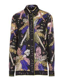 Emilio Pucci | Шелковая Блуза Прямого Кроя С Контрастным Принтом