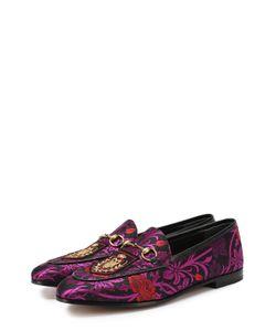 Gucci | Текстильные Лоферы New Jordaan С Вышивкой