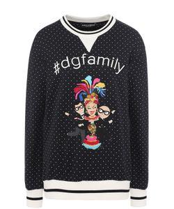 Dolce & Gabbana | Свитшот С Контрастными Манжетами И Нашивкой