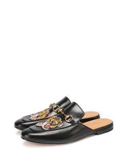 Gucci | Кожаные Сабо Princetown С Аппликацией В Виде Тигра