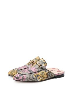 Gucci | Сабо Princetown Из Текстиля С Принтом