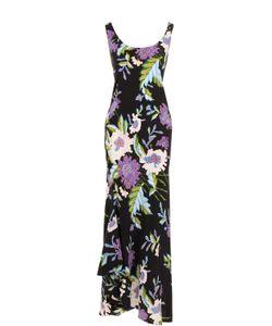 Diane Von Furstenberg | Шелковое Платье Асимметричного Кроя С Цветочным Принтом